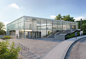 rendered image of the planned EMBL Visitor Experience building