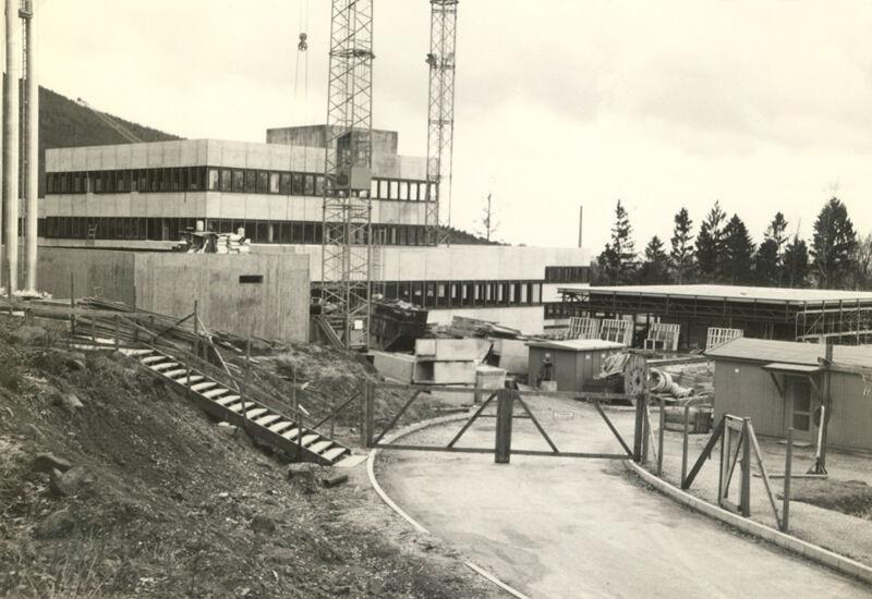 Construction of EMBL Heidelberg in 1974
