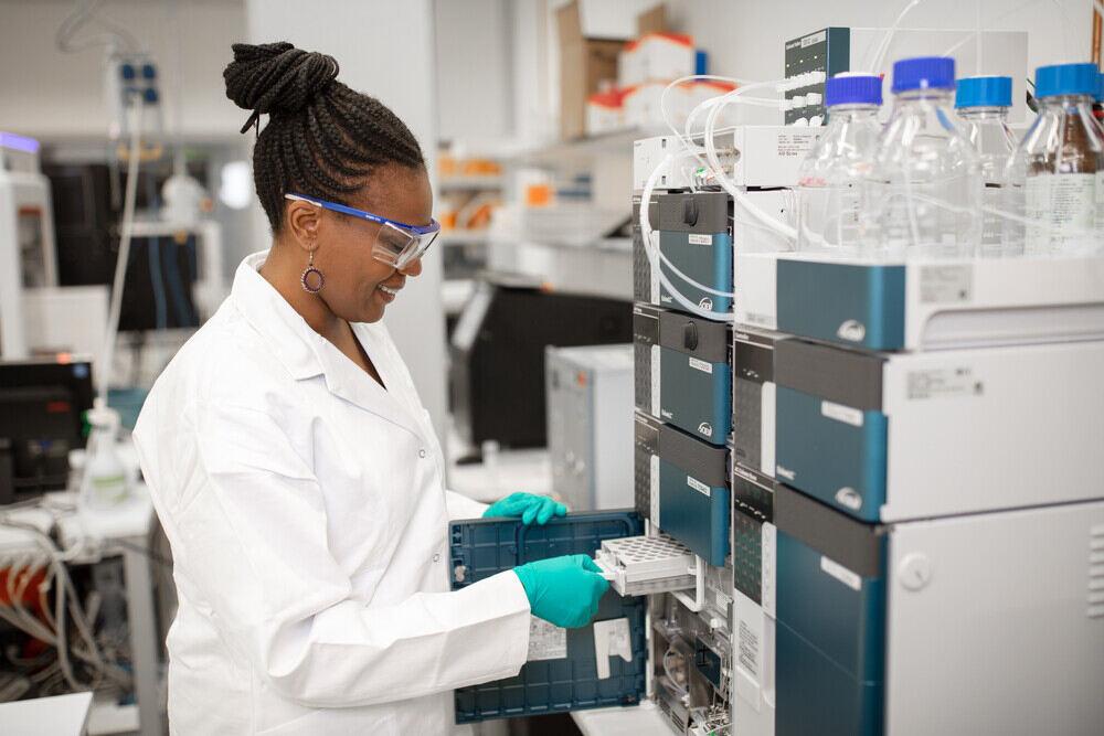 person in a lab